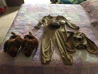 disfraz perrito con babuchas