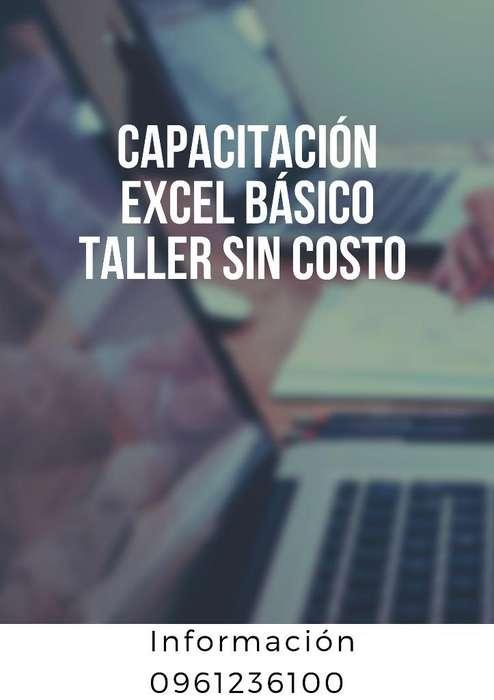 Capacitación Excel Básico taller sin Cos