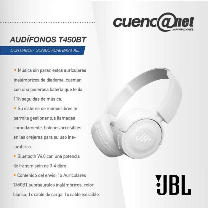 Audífonos T450Bt Jbl Bluetooth Blancos
