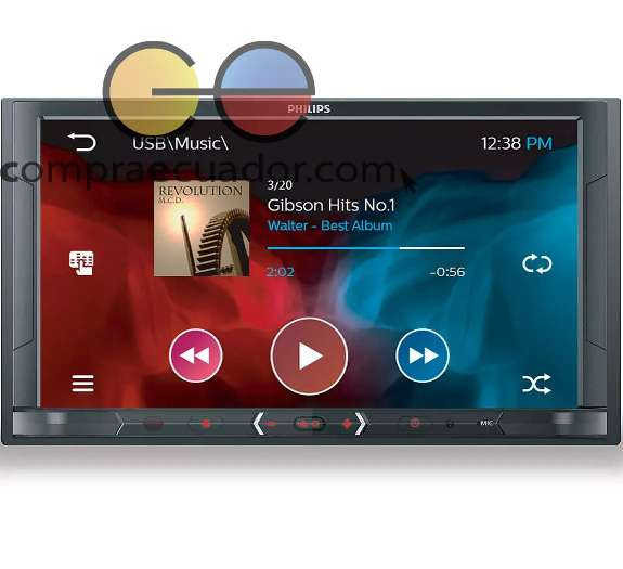 Philips Radio Para Auto Bluetooth Touch 7 2 Din 4x50w Usb