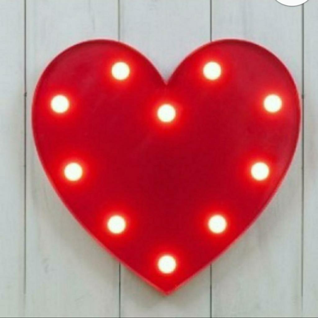 Lamparita Led Corazon San Valentin