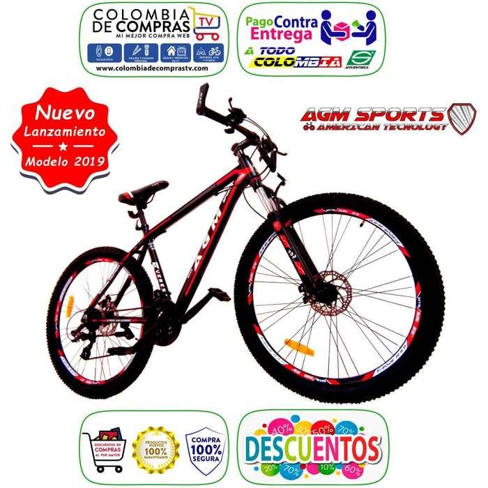Bicicleta Aluminio SHIMANO 24 Velocidades, Todo Terreno Rin 29, 27.5 y 26 Pulg. Nueva, Garantizadas, Todoterreno