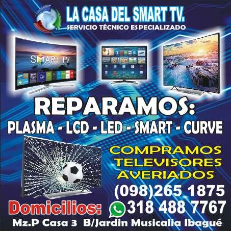 REPARACION DE TELEVISORES PLASMA LCD LED SMART CURVE 4K UHD INF:3184887767..2651875 ibague DOMICILIOS
