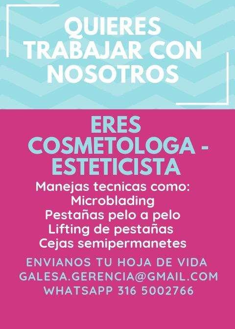 Se Solicita Cosmetologa - Esteticista