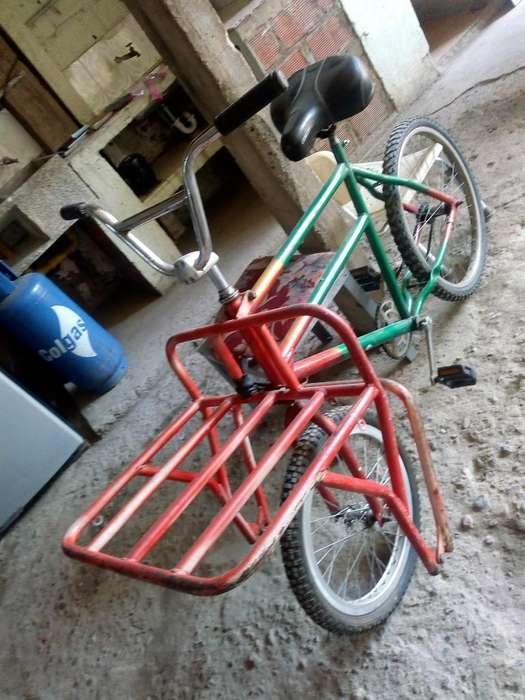 Bicicleta con Montacarga