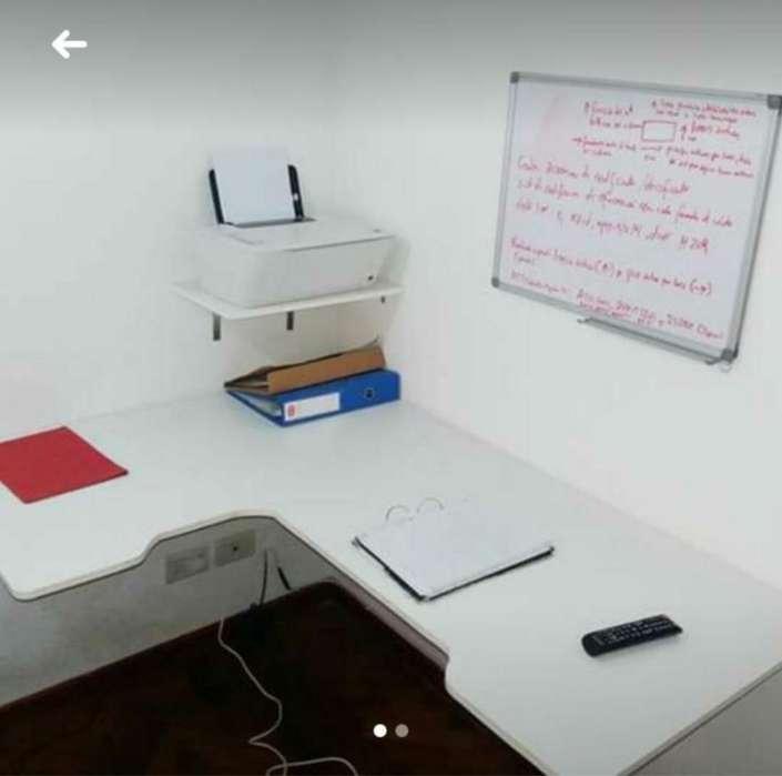 <strong>escritorio</strong> Flotante de Melamina Blanco