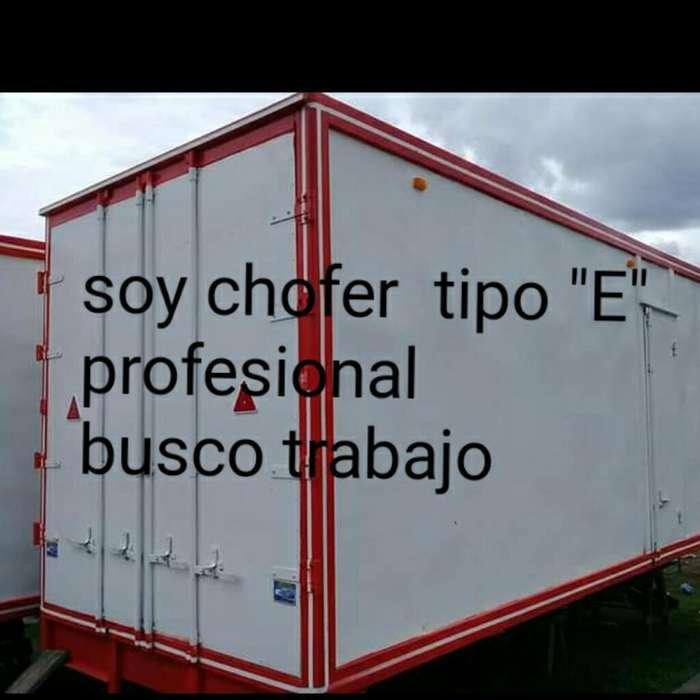 Busco Trabajo Soy Chofer