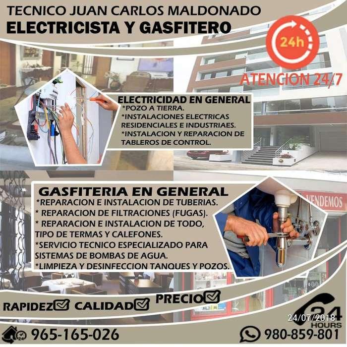 ELECTRICISTA Y GASFITERO TÉCNICO EN BOMBAS DE AGUA Y LAVADORAS CEL: 980859801 TRUJILLO