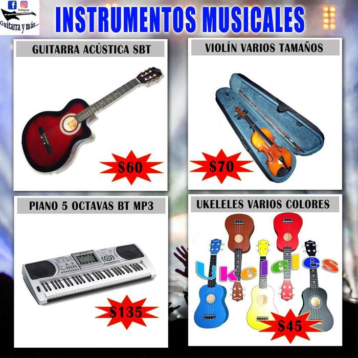 Instrumentos Musicales NUEVOS desde 45