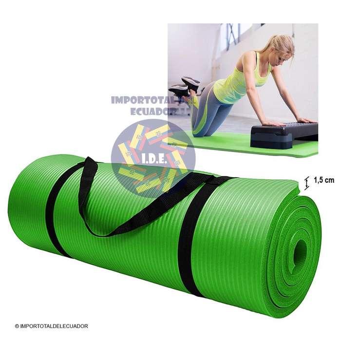 Colchoneta mat antideslizante extra gruesa ''nueva'' para yoga o ejercicios en general / Tamaño 183 cm x 61 cm x 1,5 cm