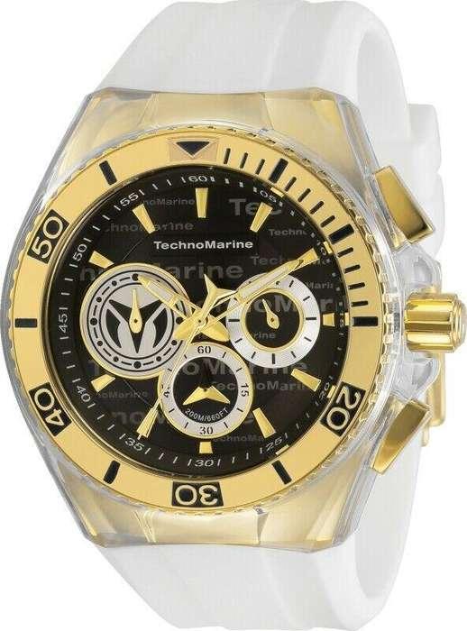 Reloj Hombre Technomarine Cruise Dorado Dial Negro 118126