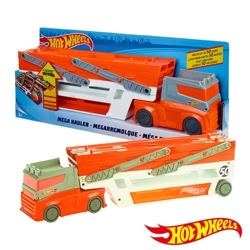 Camion Hotwheels Remolque Mega Pista Rampa Cars Hot Wheels Nuevo PkOXZiuT