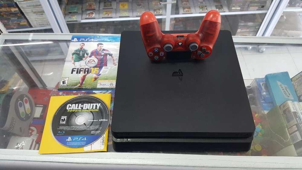 Play4 Slim 500gb 1control 2juegos Garant