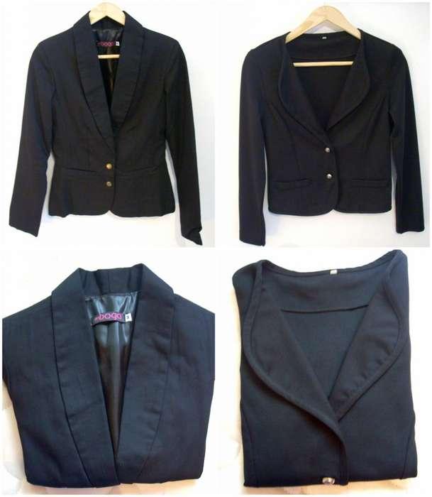 Blazer Negro Forrado De Vestir Mujer X 2 Modelos Impecables!