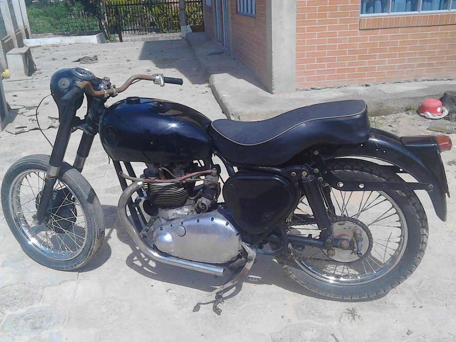 vendo moto antigua BSA shooting star 1956 restaurada barata
