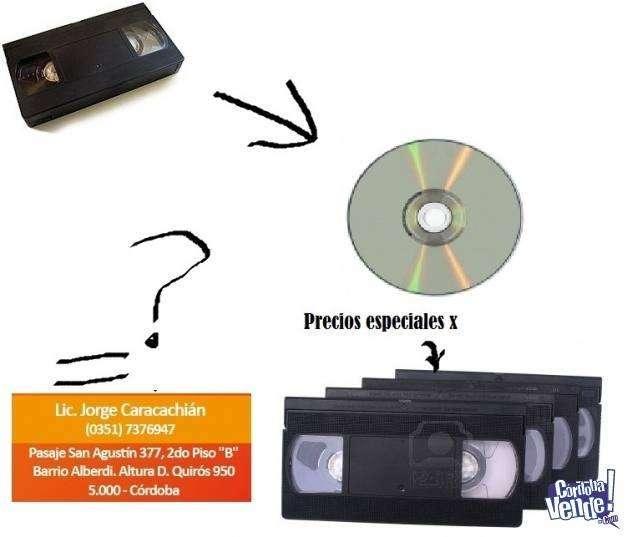 Digitalización de VHS, videos, casettes y vinilos