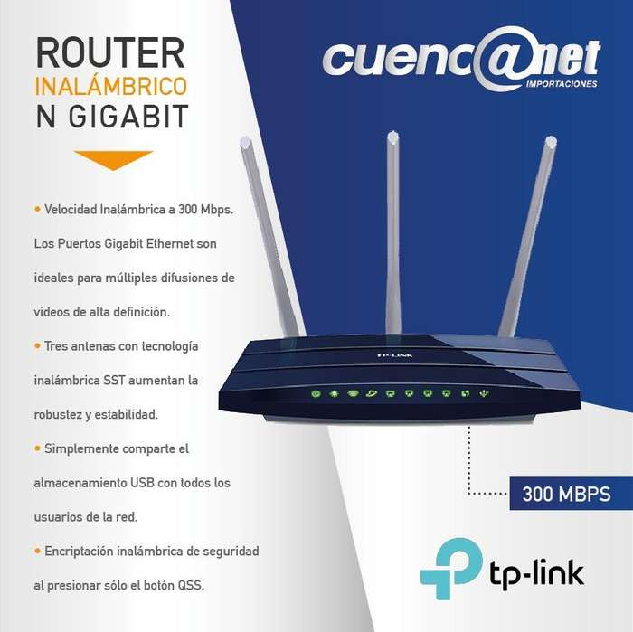 Tplink Tlwr1043nd 300mbps Ultimate W. N Gg Router, Ath, 3t