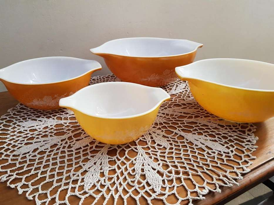 Set De 4 Bowls Pyrex Corning N.Y Usa