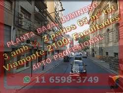 PH BNorte 3amb 1/2 65m2tot PB 2pat Viamonte 2100 us109.000