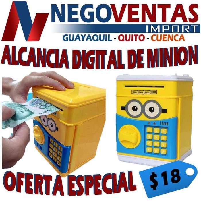 ALCANCIA DIGITAL CUENTA MONEDAS DE MINIONS DE OFERTA