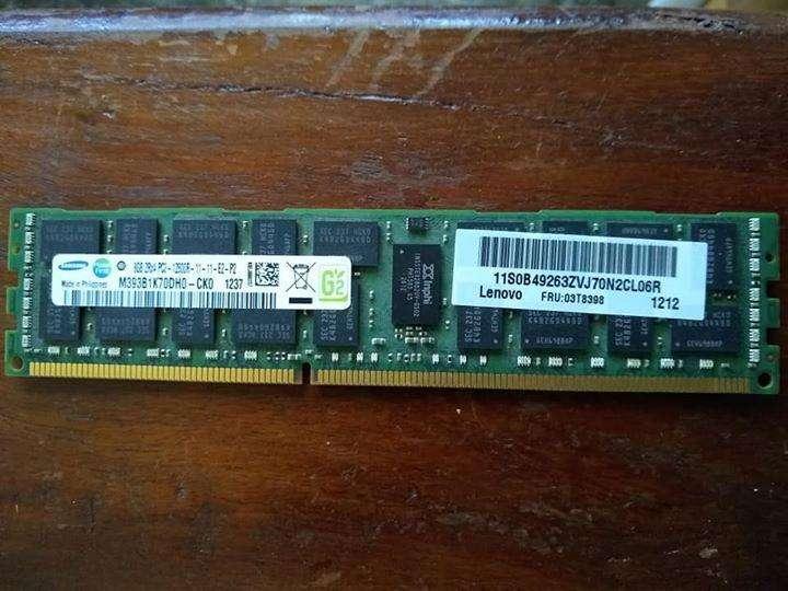 <strong>memoria</strong> RAM 8GB DDR3 ECC doble chip