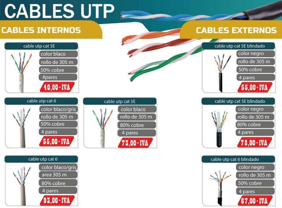 CABLE UTP MARCA NETWORK 50%-80% COBRE INTERIOR Y EXTERIOR
