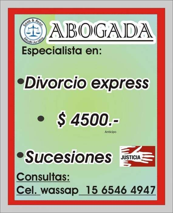 ABOGADO DIVORCIO EXPRESS ACCIDENTES MORON. CIUDADELA CABA