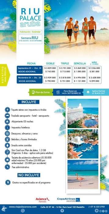 Viaje como un Rey a Aruba H. RIU PALACE ARUBA con Viajes la Corona