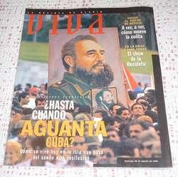 revista Viva Clarin 1994 Fidel Castro . Hasta cuando aguanta Cuba