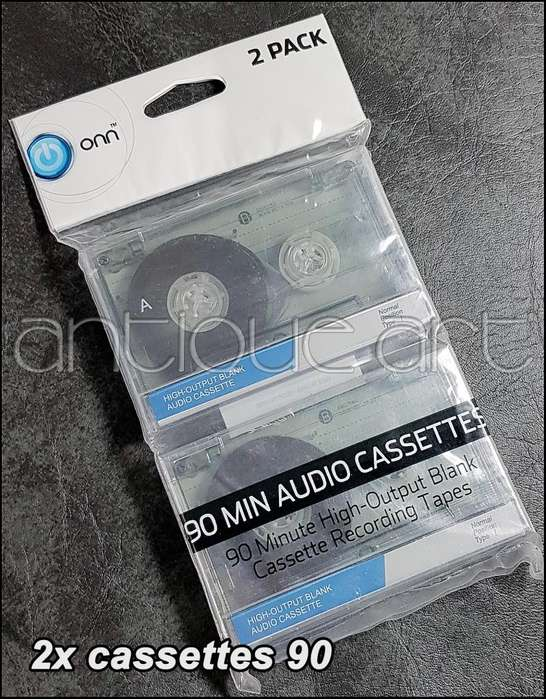 A64 2x Cassette Normal Cinta Audio Onn 90 Sellados Deck Kct