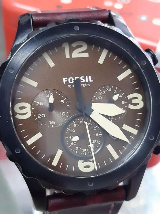 Reloj Fossil 3 Cabezas Original Cuero