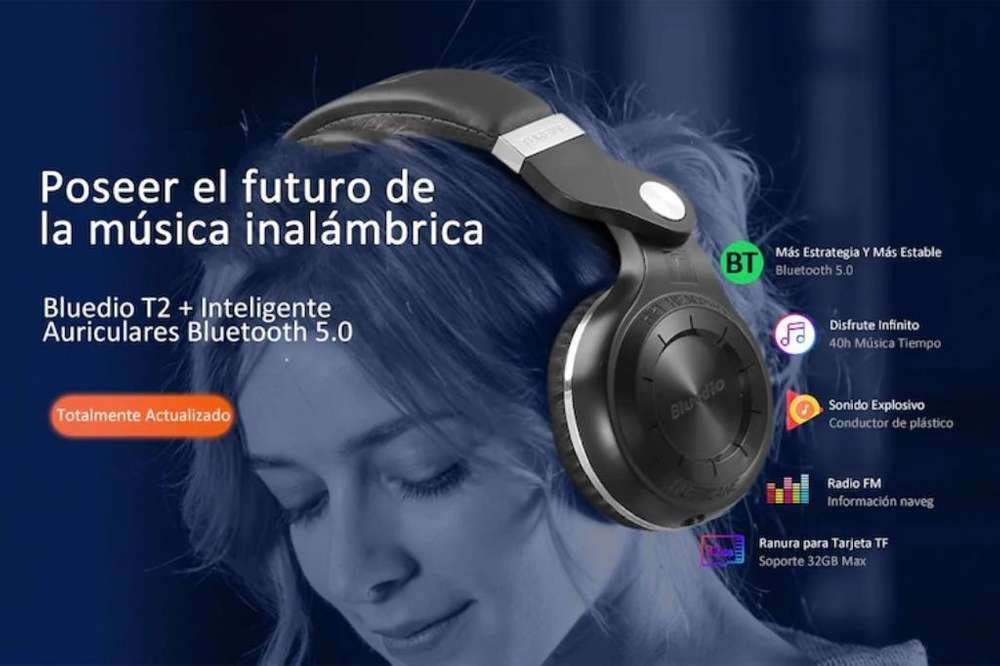Audífonos Bluedio T2plus 5.0 Bluetooth