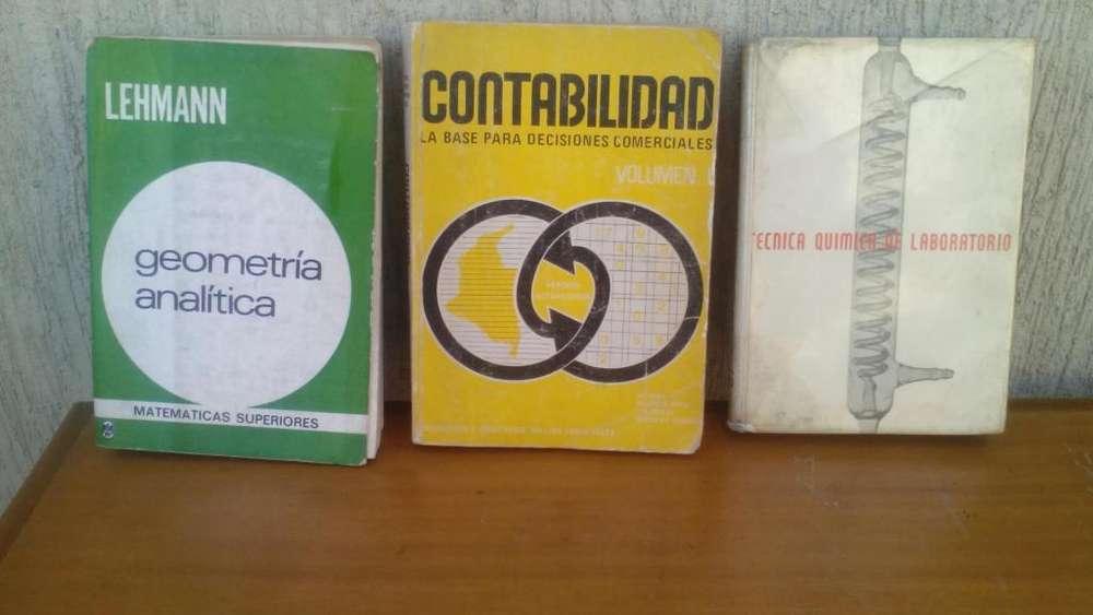 LIBROS DE GEOMETRÍA ANALÍTICA LEHMANN, <strong>contabilidad</strong>, TÉCNICA QUÍMICA DE LABORATORIO
