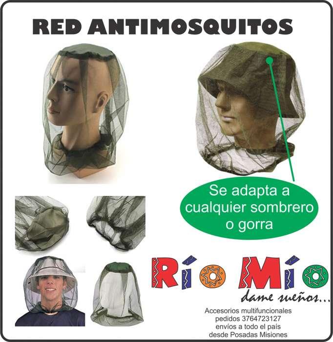 red antimosquitos para cualquier tipo de gorra o sombrero