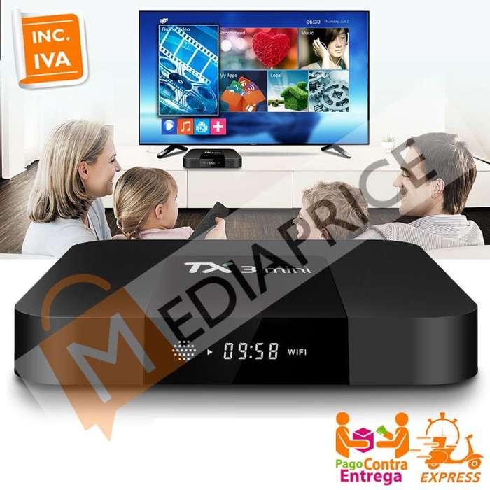 Convertidor Smart TV Box TX3 Mini 4K 1GB RAM 8GB