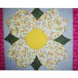Adorno Cuadro Flor Tela 20cm Madera Trupan original regalo navidad amor decoracion casa