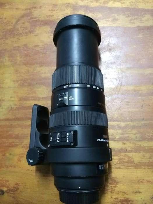 Lente Sigma 120-400mm Doble Estabilizado