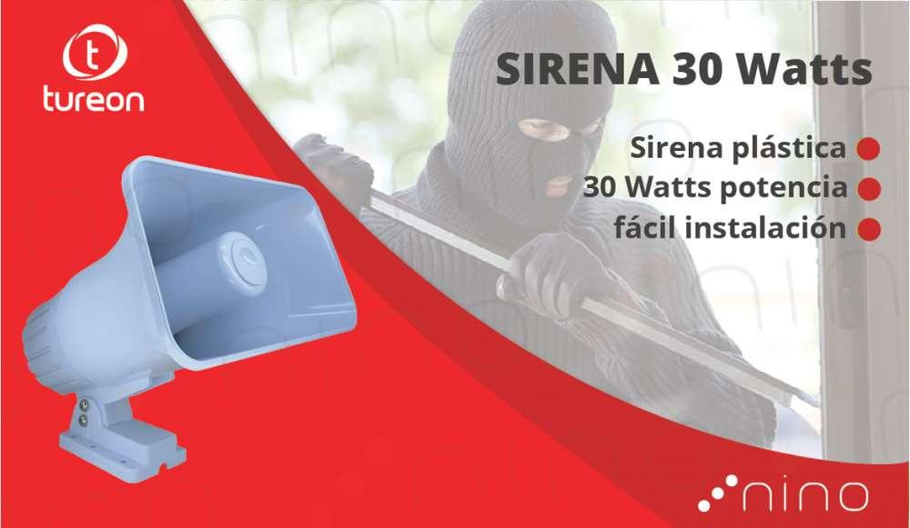 Sirena alarma 30 watts
