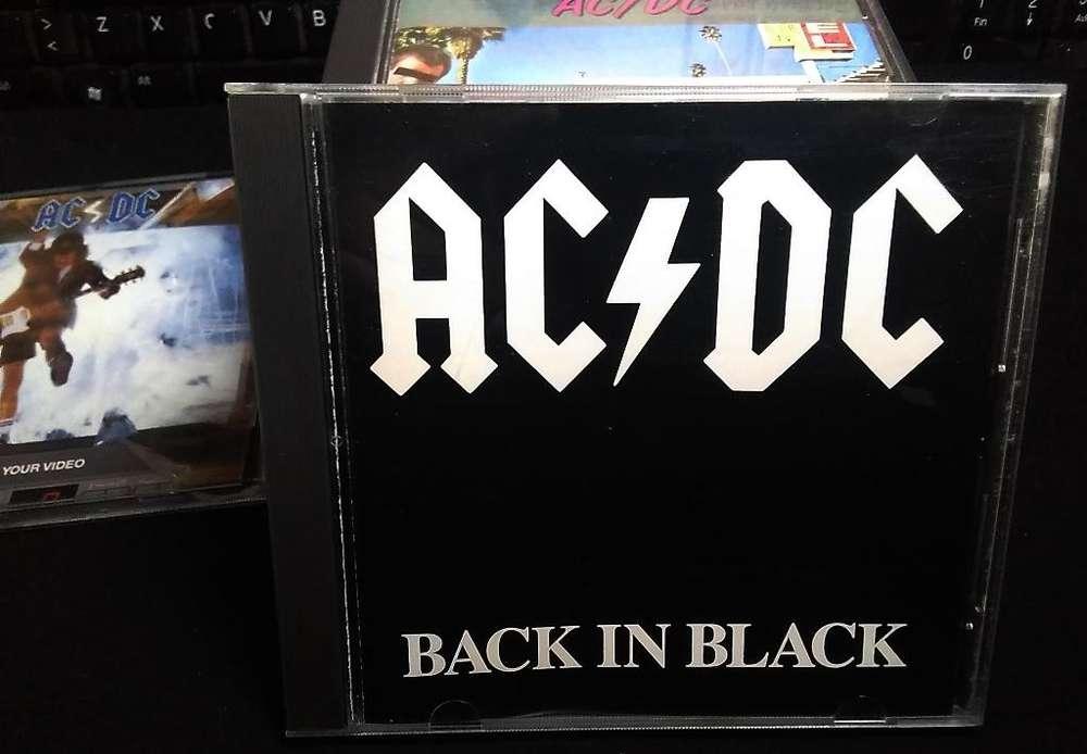 CD ORIGINAL de ACDC BACK IN BLACK Americano Made in USA En perfecto estado, Entrega Inmediata. Tenemos otros.