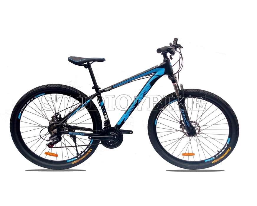 Bicicleta Aro 29 Deportiva Fex Bike Negra Azul Nuevas