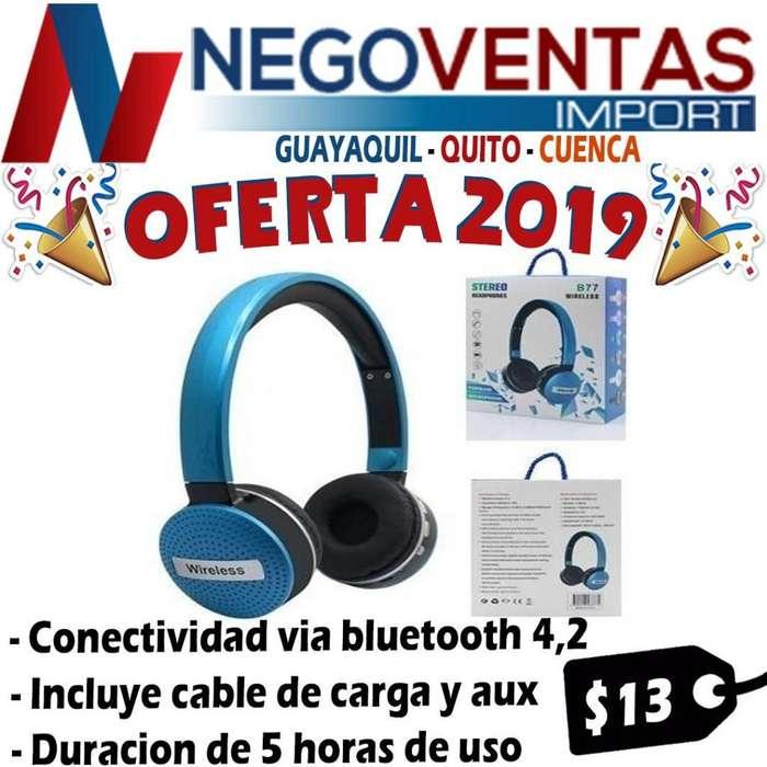 AUDIFONOS INALAMBRICOS CON BT PUERTO SD RECARGABLE