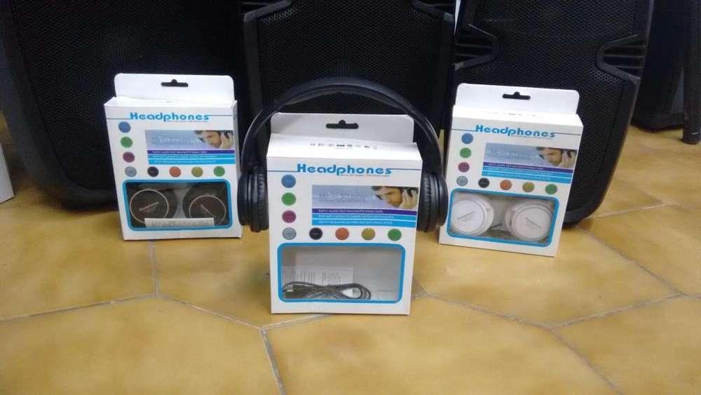 Auriculares Vincha Recargable Bluetooth Radio Fm Mp3 Sd