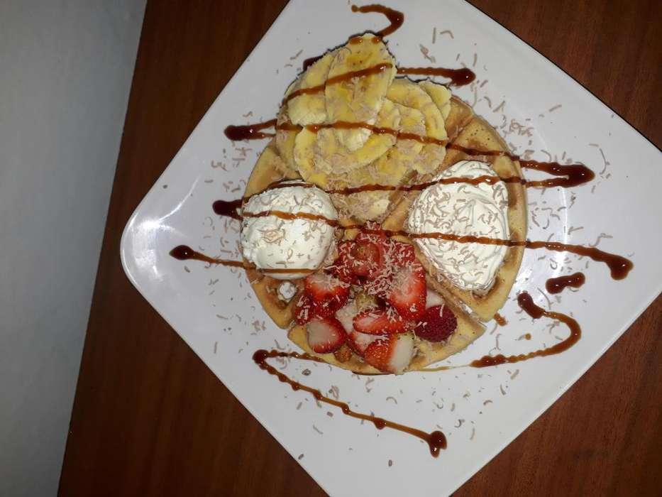 un NEGOCIO redondo los mejores crepes y waffles