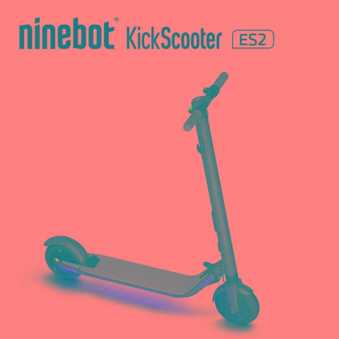 Patinete eléctrico para adultos y niños - Segway Ninebot KickScooter ES2 Pro