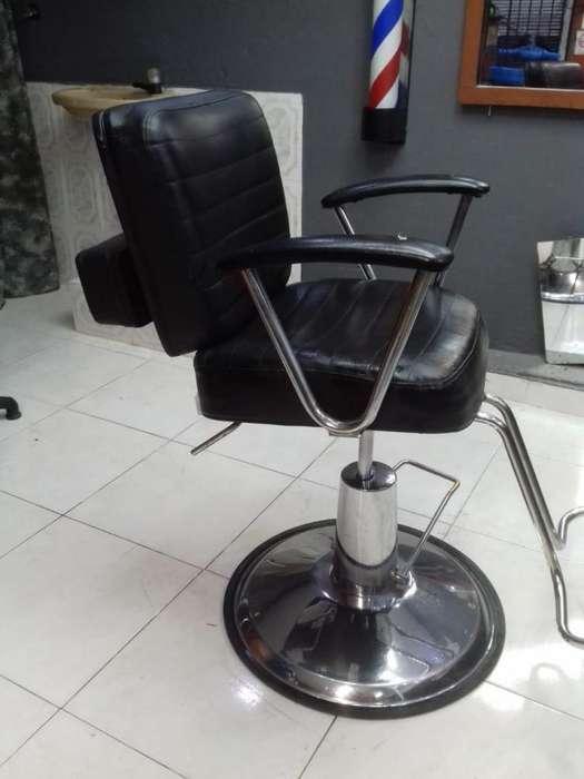 silla para barberia pelequeria hidaulica de platon buen estado