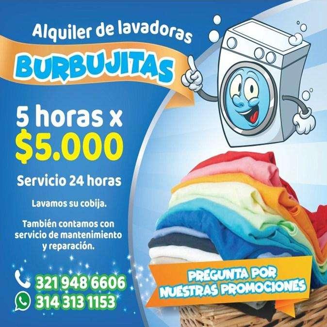 alquiler renta de lavadoras armenia 5000/5horas