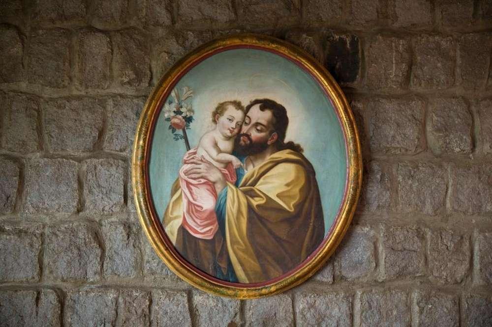 Cuadro San José y el Niño Escuela Manuel de Samaniego