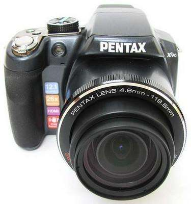 Pentax X90 12.1MP Camara <strong>digital</strong> 26x Zoom Super-Telephoto Triple Shake Stabilized Zoom and 2.7-Inch LCD