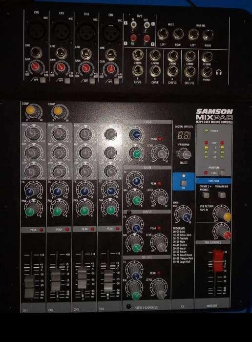 Consola Samson Mxp124fx Mezclador Audio