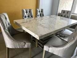 Mesas de comedor con granito , Onix , Mármol. Precios excelentes de ...
